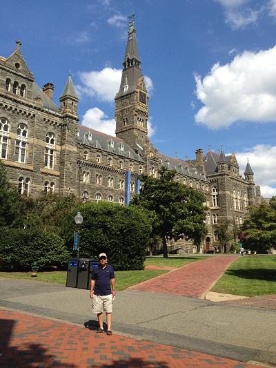 20歳の時に留学したアメリカ・ワシントンDCのジョウジタウン大学をアメリカ駐在時代に久々に訪問