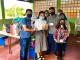 (ブラジル埼玉県人会で日系児童福祉施設に寄付)